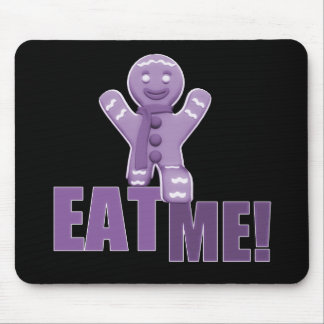¡CÓMAME Hombre de pan de jengibre - púrpura Alfombrilla De Ratón