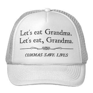 Comamos a la abuela que las comas ahorran vidas gorras de camionero