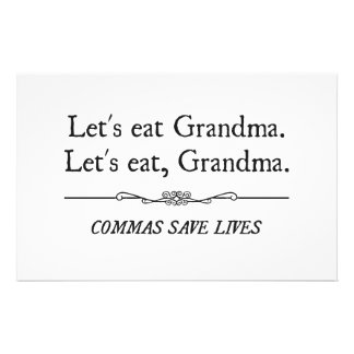 Comamos a la abuela que las comas ahorran vidas papeleria personalizada
