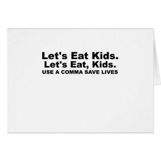 Comamos a los niños. .png tarjeta de felicitación
