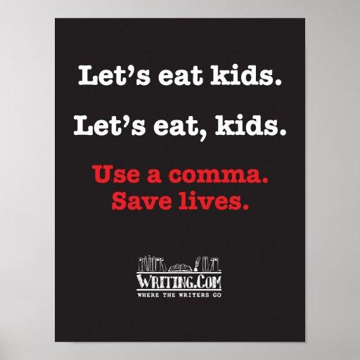 Comamos a niños poster