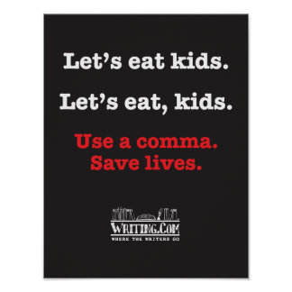 Comamos a niños póster