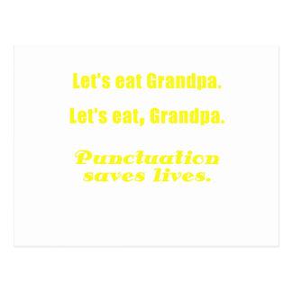 Comamos al abuelo que la puntuación ahorra vidas tarjetas postales