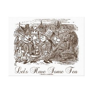 Comamos algo de té (Alicia Haigha Hatta) Impresión En Lona Estirada