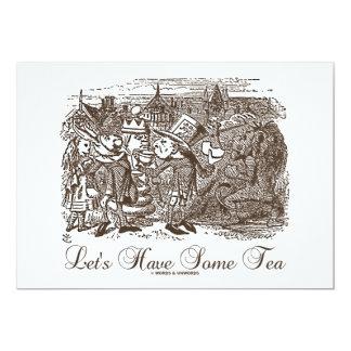 Comamos algo de té (país de las maravillas Alicia) Invitación 12,7 X 17,8 Cm