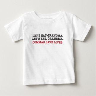 Comamos el gramdma. las comas ahorran vidas playera