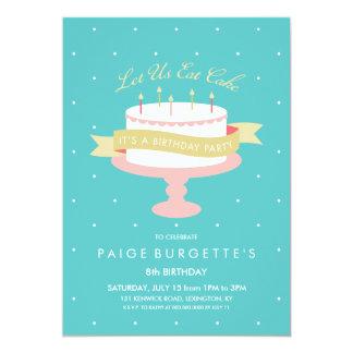Comamos la invitación del cumpleaños de la torta