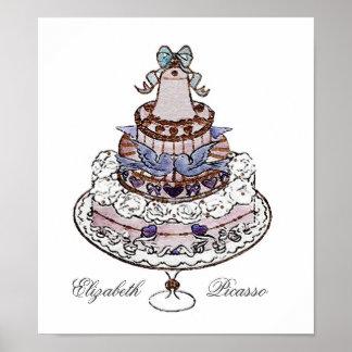 ¡Comamos la torta! Memorias del boda del poster Póster