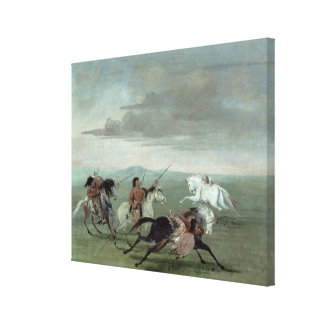 Comanche Feats of Martial Horsemanship, 1834 (oil Canvas Print