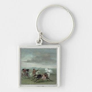 Comanche Feats of Martial Horsemanship, 1834 (oil Keychain