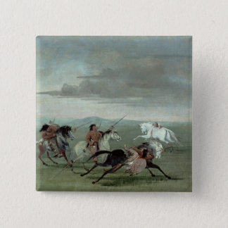 Comanche Feats of Martial Horsemanship, 1834 (oil Pinback Button