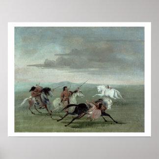 Comanche Feats of Martial Horsemanship, 1834 (oil Poster