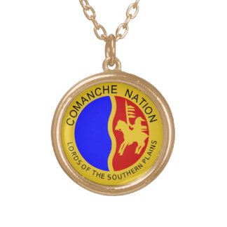 Comanche Nation Gold Plated Necklace