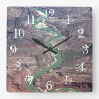 Comanche Point, Grand Canyon Square Wall Clock