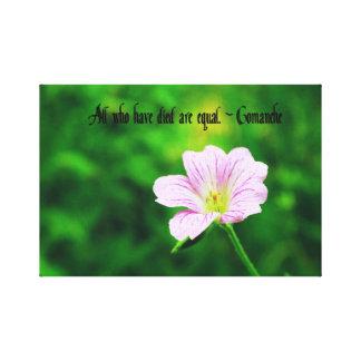 Comanche Proverb Canvas Print