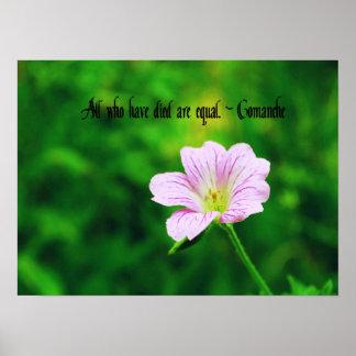 Comanche Proverb Poster