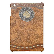 """Comanche"" Tooled Leather Western IPad Case"