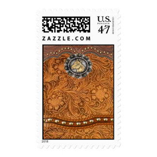 """""""Comanche"""" Tooled Leather Western Postage Stamps"""