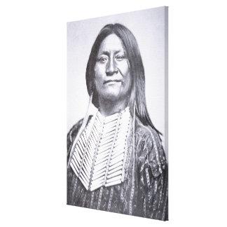 Comanche Tribesman, 1872 (b/w photo) Canvas Print