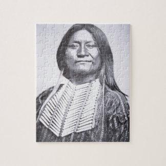 Comanche Tribesman, 1872 (b/w photo) Jigsaw Puzzle