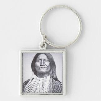 Comanche Tribesman, 1872 (b/w photo) Keychain