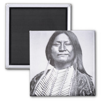 Comanche Tribesman, 1872 (b/w photo) Magnet