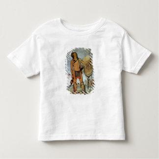Comanche warrior with a shield, lance and bow and toddler t-shirt