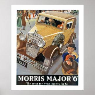 "Comandante ""6"" de Morris anuncio del automóvil Póster"