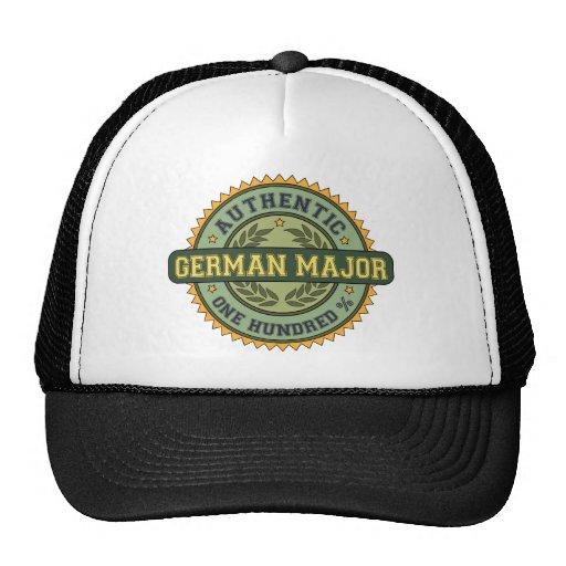Comandante alemán auténtico gorras de camionero