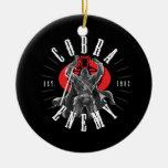 Comandante Biker Badge de la cobra Adorno Redondo De Cerámica