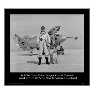 Comandante Cecil Powell del piloto de prueba de la Póster