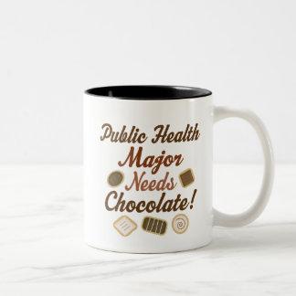 Comandante chocolate de la salud pública taza de dos tonos