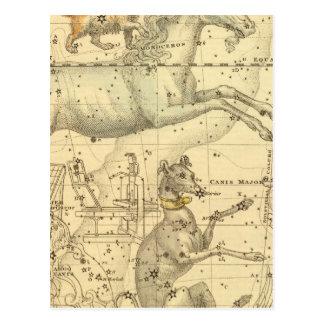 Comandante de Canis, menor de Canis, Monoceros, Ar Postales