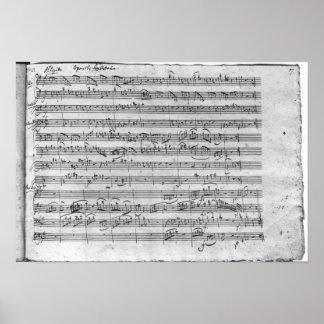 Comandante de G para el violín, el clavicordio y e Póster