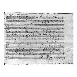 Comandante de G para el violín, el clavicordio y Postal