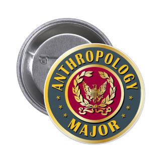 Comandante de la antropología pin redondo de 2 pulgadas