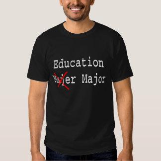 Comandante de la educación - camiseta graduada playeras