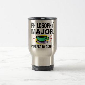 Comandante de la filosofía accionado por el café taza de viaje de acero inoxidable