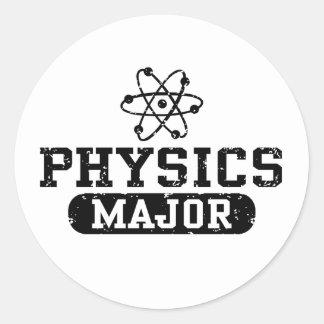 Comandante de la física pegatina redonda