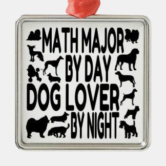 Comandante de matemáticas del amante del perro ornamentos para reyes magos