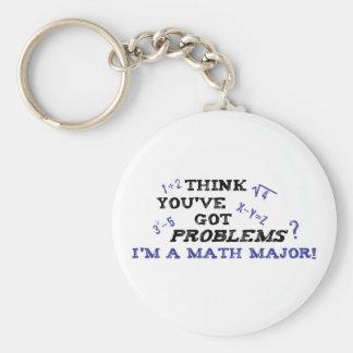 Comandante de matemáticas divertido llavero redondo tipo pin