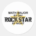 Comandante de matemáticas estrella del rock etiqueta redonda
