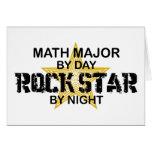 Comandante de matemáticas estrella del rock tarjeta