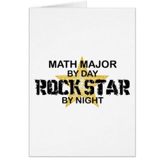 Comandante de matemáticas estrella del rock tarjeta de felicitación