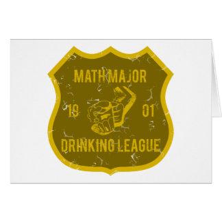 Comandante de matemáticas liga de consumición tarjeta de felicitación