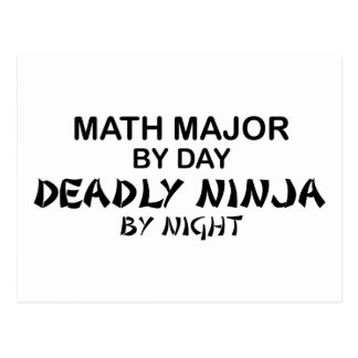 Comandante de matemáticas Ninja mortal por noche Tarjetas Postales