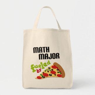 Comandante de matemáticas regalo (pizza) bolsas de mano