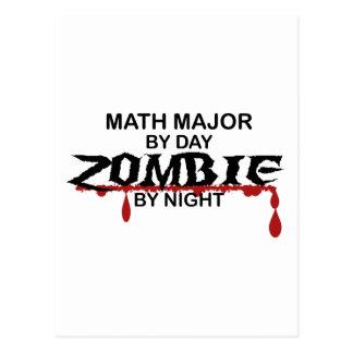 Comandante de matemáticas zombi tarjeta postal