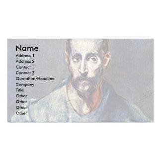 Comandante de San Jaime por el EL de Greco Plantilla De Tarjeta Personal