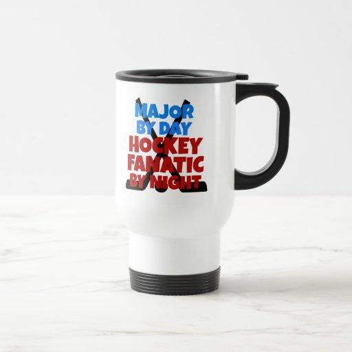 Comandante del amante del hockey taza de café